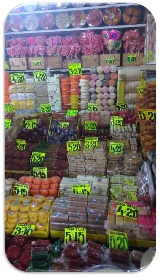 Dulces tradicionales en el mercado de la merced